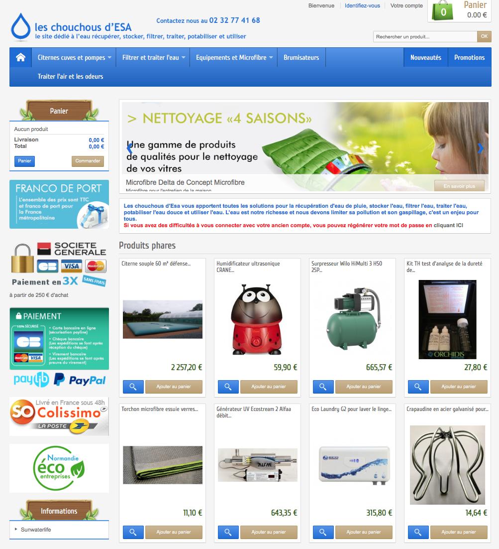 Site Les Chouchous d'Esa