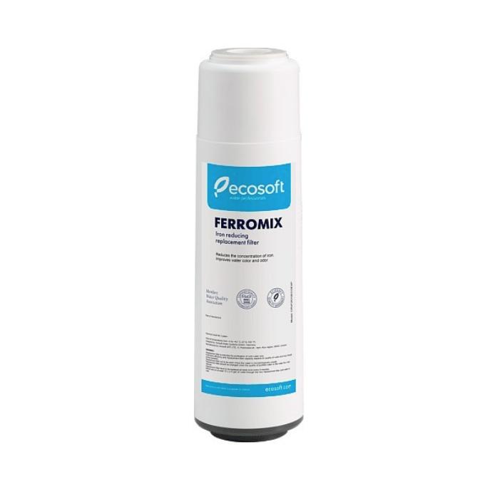Filtre 10 pouces Ferromix d'Ecosoft pour traiter le fer dans l'eau