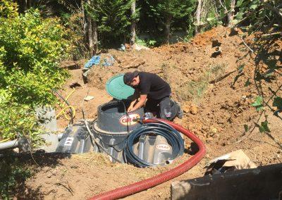 Installation citerne enterrée GRAF, pour récupération d'eau de pluie, par ESA-Evolutions