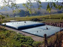 Citerne souple pour boues et stockage d'eaux chargées.